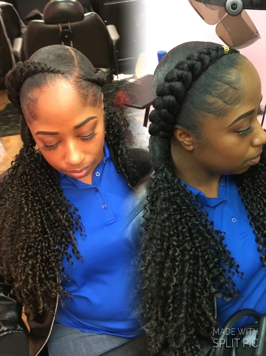 Beauty And The Beast Prom How To Do French Braids With Weave