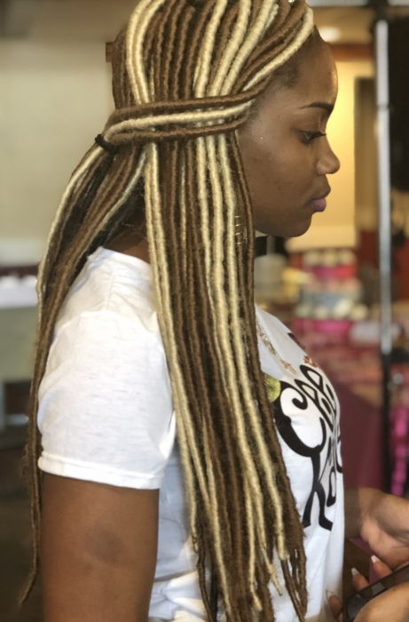 colored faux locs