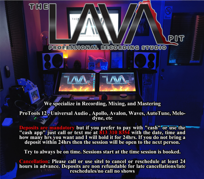Schedule Appointment with The LAVA Pit Recording Studio